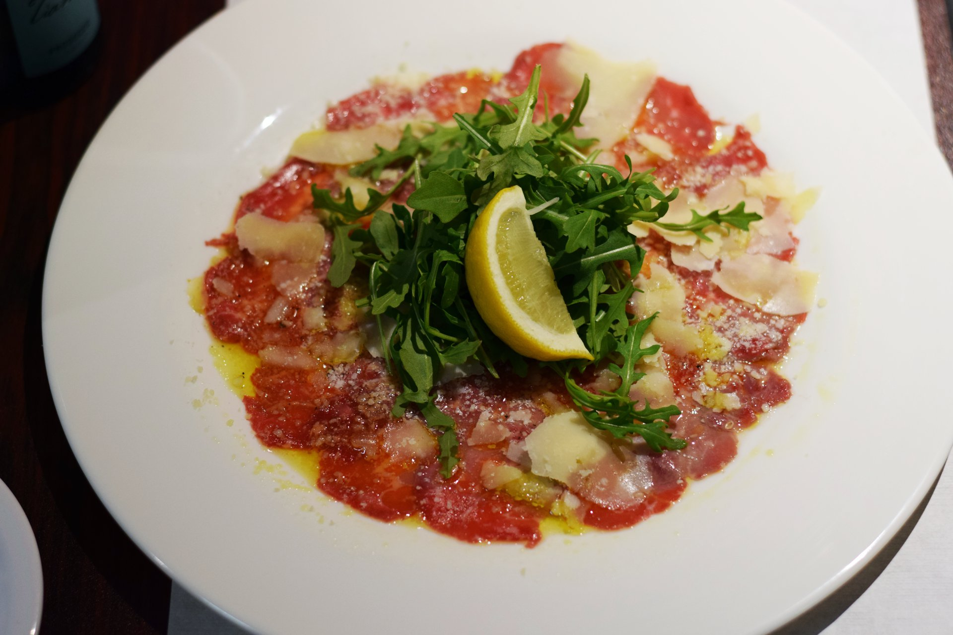 Carpaccio di Manzo the best Italian Restaurant